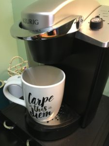 Coffee, while sometimes needed in the morning, isn't the best way to hydrate because is a diuretic (makes you pee). Make sure you drink a cup of water or non-caffeinated tea in the morning to help stay hydrated during the day.