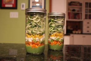 Zucchini Noodle Mason Jar Salads when you want to try out that new spiralizer!