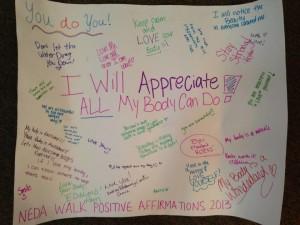 neda walk positivity poster