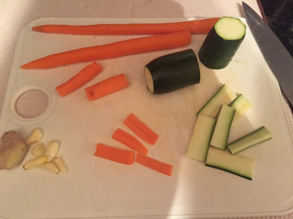 Cut the veggies