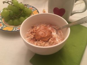 Cinnamon Oatmeal with Peanut Butter, Photo by Kaitlin Williams, MPH, RD, LD