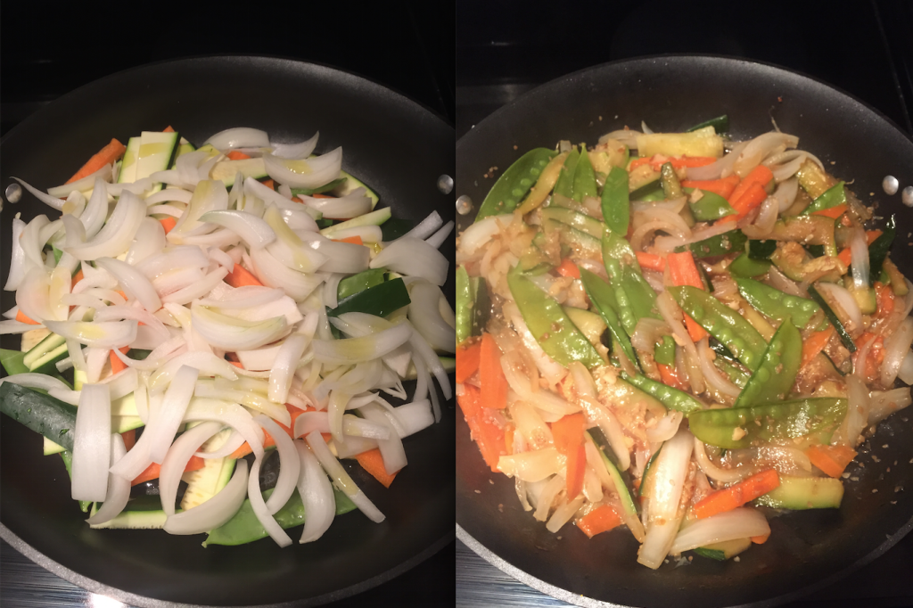 Veggies: Before and after