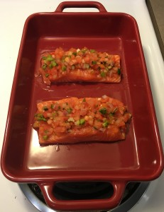 roasted salmon with salsa