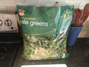 Kale greens ready to go for salad!