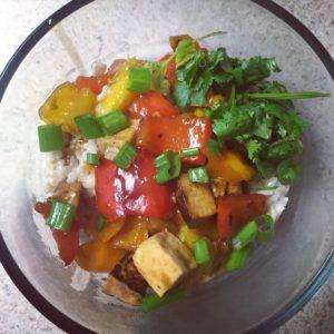 Mango Tofu Rice Bowls