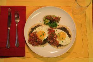 Huevos Rancheros is a meal full of protein