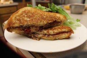 Grilled Almond Butter Sandwich