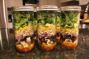 Margarita Chicken Mason Jar Salads are perfect grab-and-go lunch!