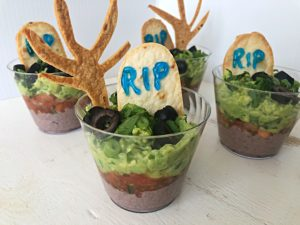 graveyard taco cups vegan halloween treats