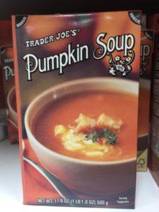 yum! Warm pumpkin soup on a cold fall night