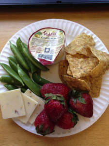 coworkers snack plate