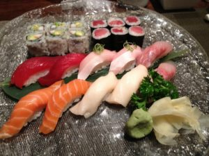 Fish is part of a heart healthy strategy including sushi