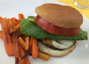 Burger with Carrot Fries