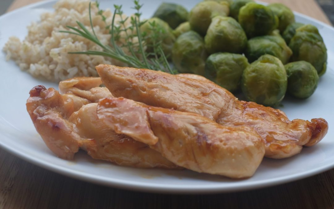 Maple Chicken with Brussels Sprouts and Rice