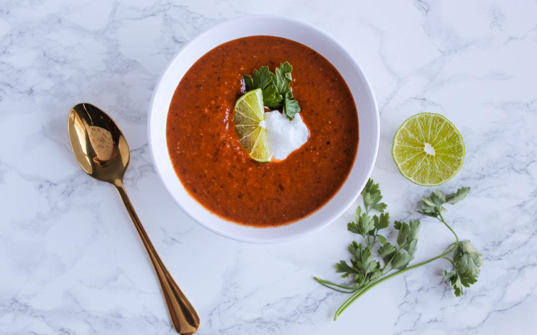 Black Bean-Tomato Soup