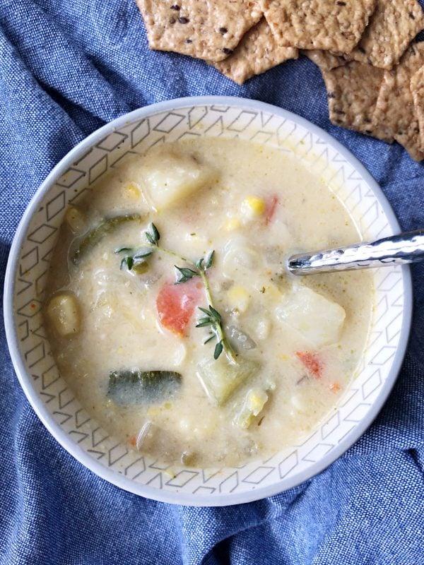 zucchini corn chowder