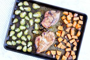 balsamic chicken and veggies sheet pan dinners