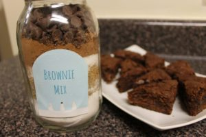 brownie mix jar for diy gift