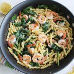 Gemelli Pasta with Shrimp and a Lemon Butter Sauce