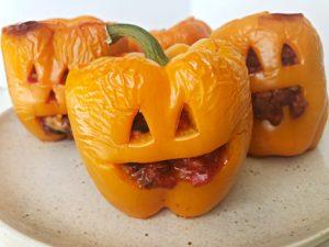 jack-o-lantern vegan halloween treats