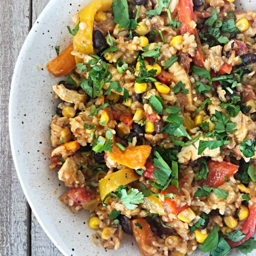 easy fiesta rice bowl