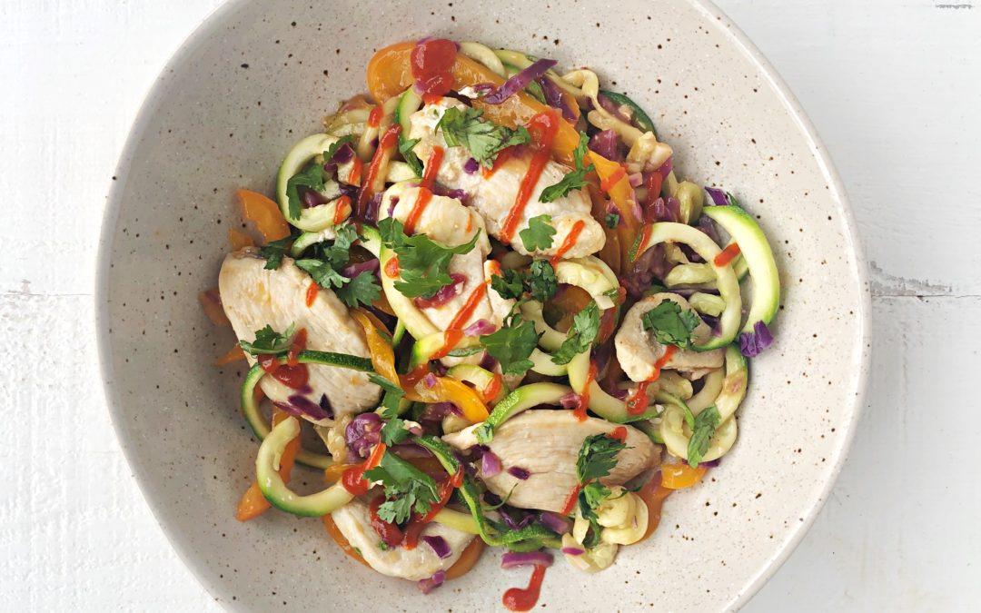 Ginger Chicken Zoodles