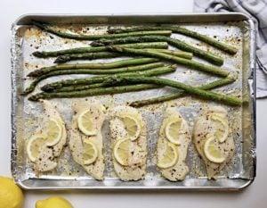 lemon chicken asparagus sheet pan dinners