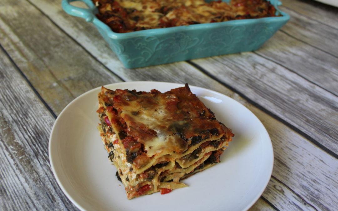 Lentil Noodle Veggie Lasagna
