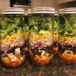 Margarita Chicken Mason Jar Salad