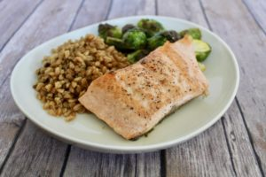 maple baked salmon