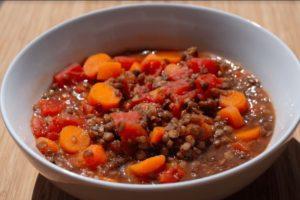 Chunky Vegetable Lentil Soup Recipe