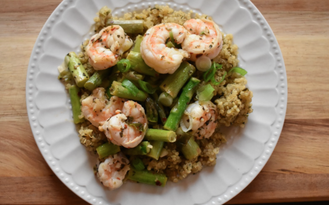 Shrimp and Asparagus Quinoa