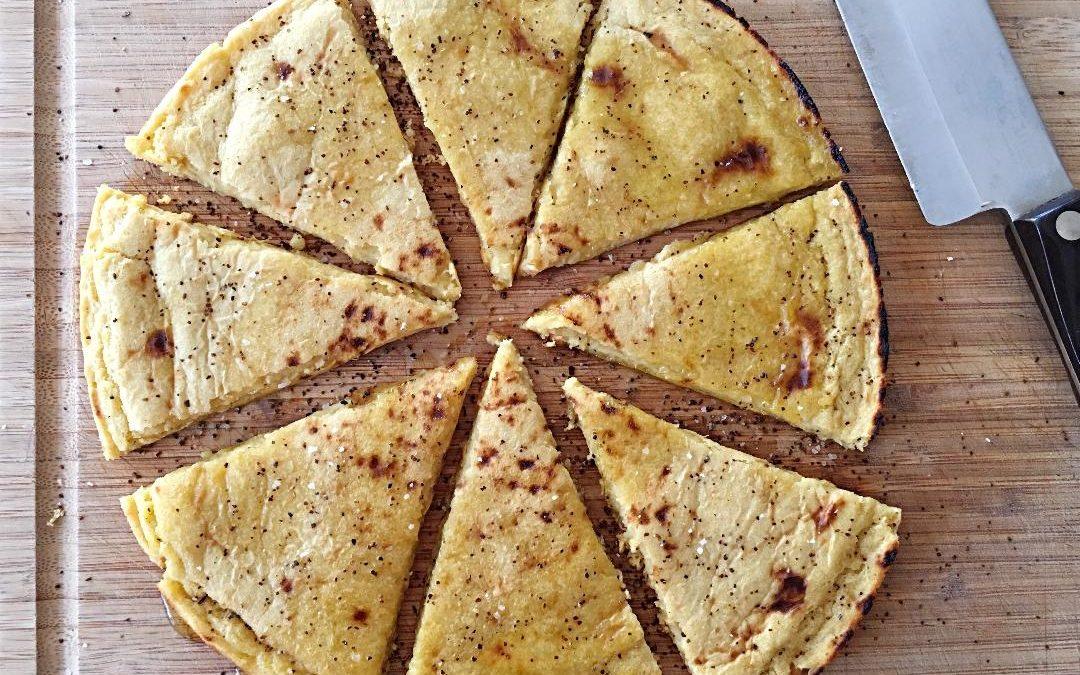 Socca (chickpea flatbread)