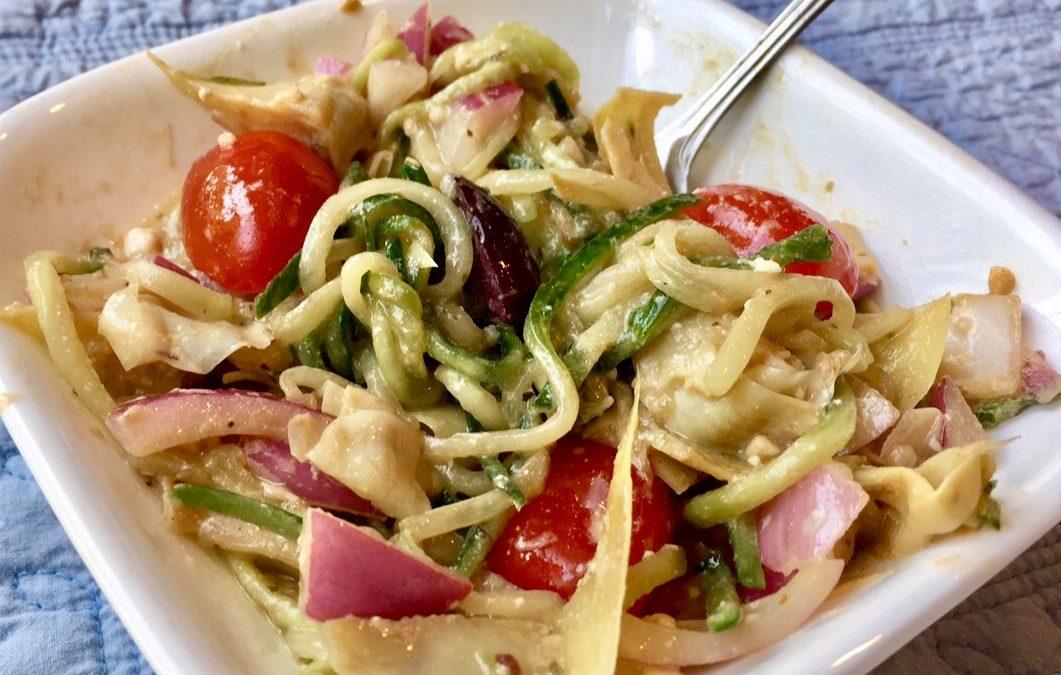Zucchini Noodle Greek Salad