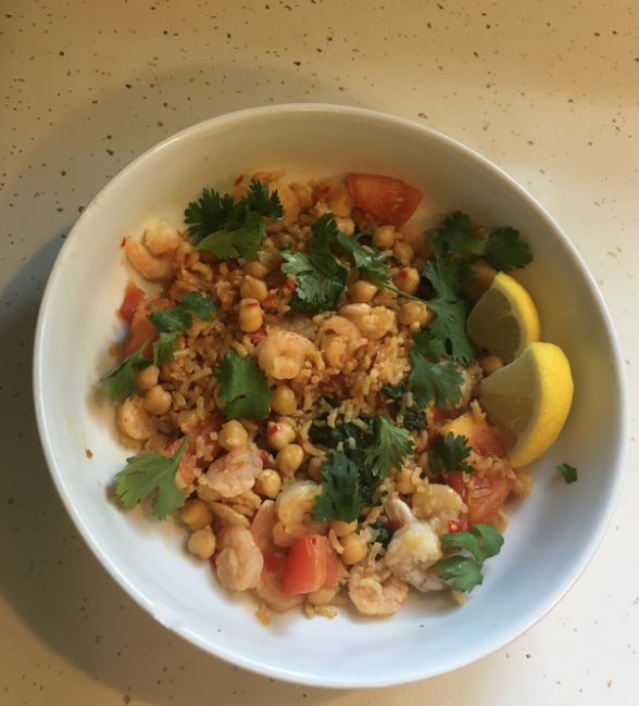 Moroccan Shrimp Bowl