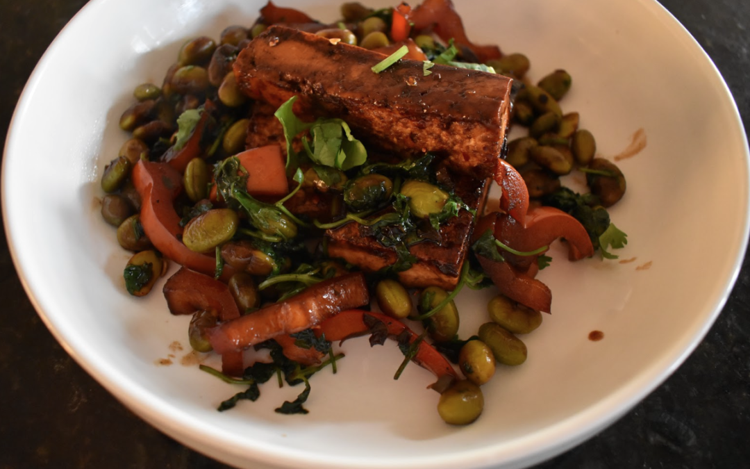 Spicy Tofu Edamame