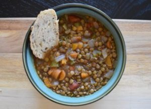Lentil Vegetable Soup with Tarragon and Thyme