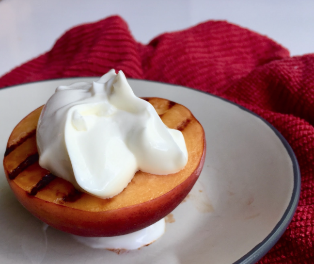 Baked Peaches and Greek Yogurt