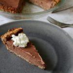 Chocolate Greek Yogurt Pie with Hazelnut Crust