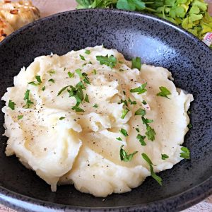 Low Potassium Potatoes Leached Mashed Potatoes with Roasted Garlic