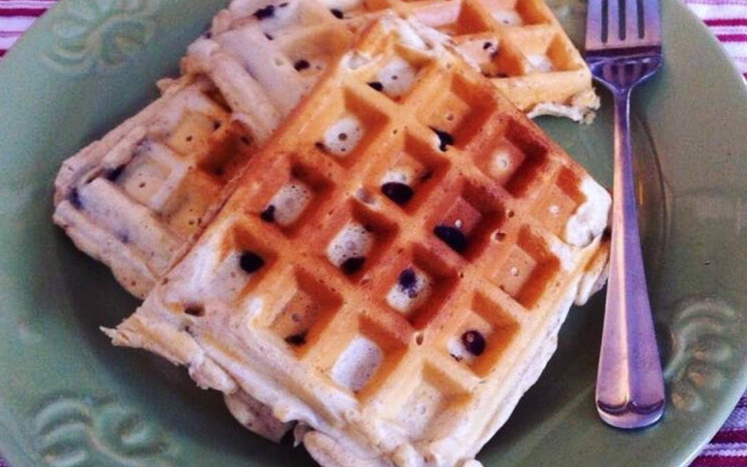Blueberry Almond Flour Waffles