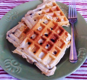 Blueberry Almond Flour Waffles