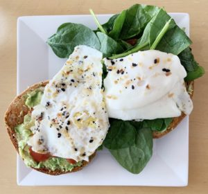 healthy egg sandwich post workout