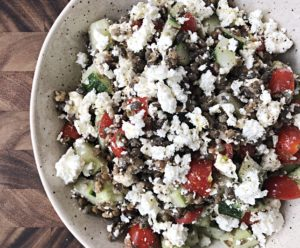 lentil salad when you don't feel like cooking