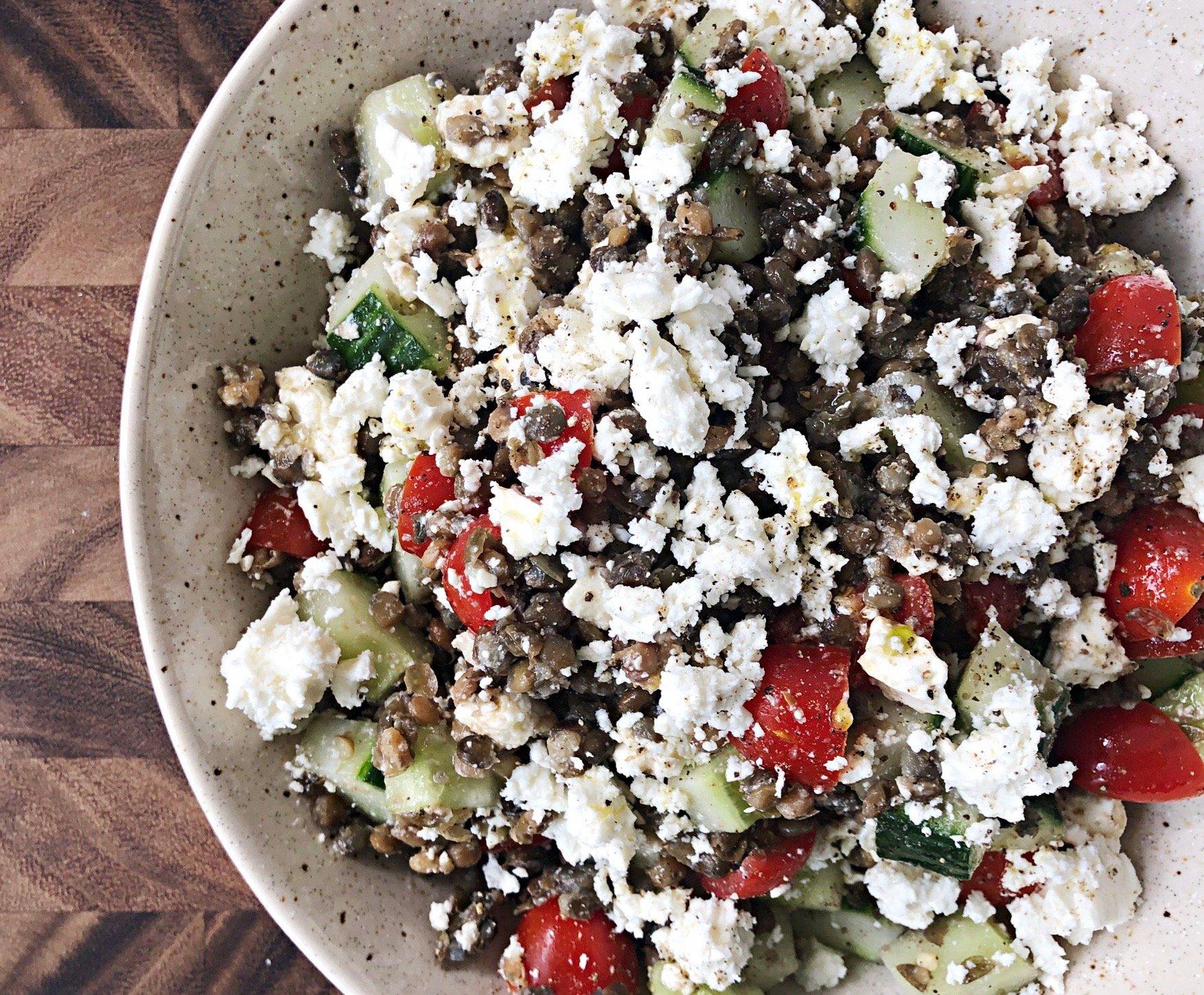 don't feel like cooking lentil salad