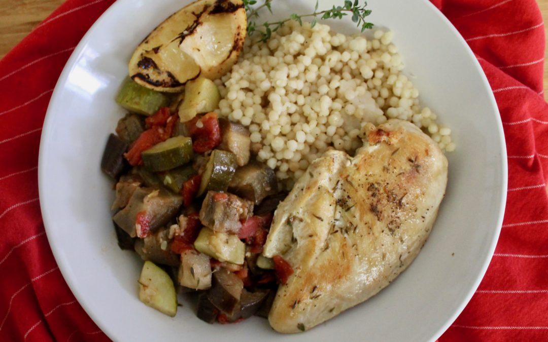 Sheet Pan Chicken with Oven Ratatouille