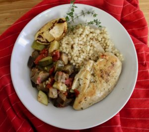 Sheet Pan dinners Chicken and Ratatouille