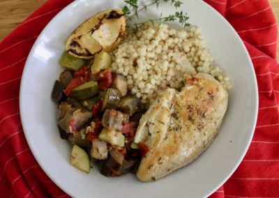 Sheet Pan Chicken and Ratatouille