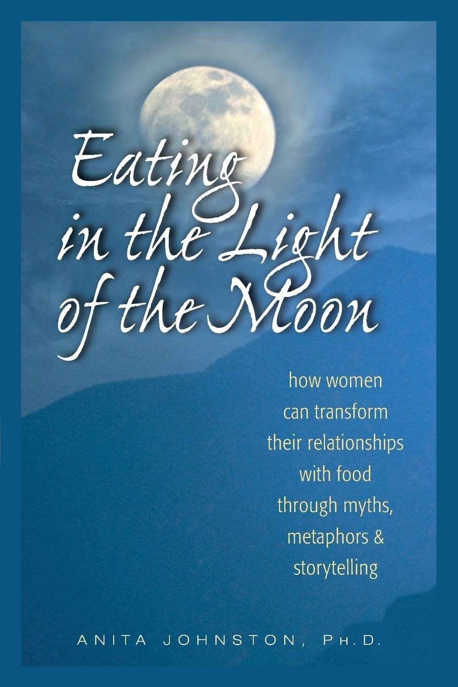 ED book eating in the light of the moon