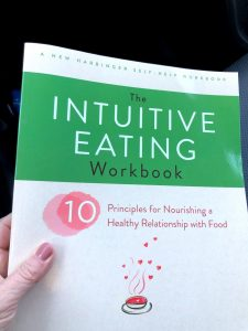 intuitive eating book with Mindful Eating Tip